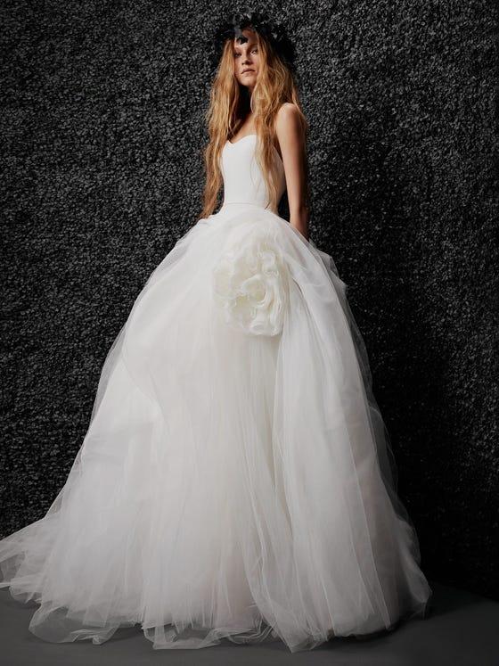 parte delantera vestido novia princesa espalda descubierta alizee