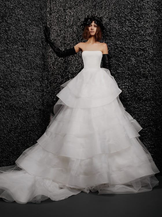parte delantera vestido novia princesa palabra honor nolwenn